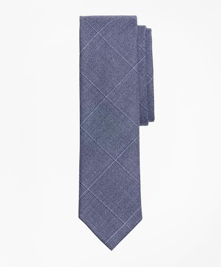 Windowpane Wool Twill Tie