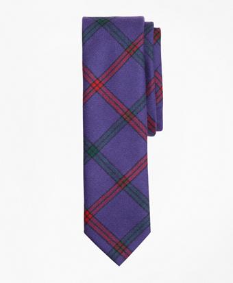 Double Windowpane Wool Tie