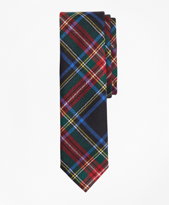 Plaid Wool Tie Multi