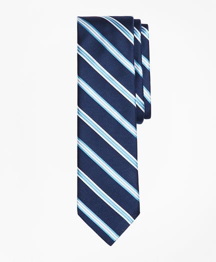 Alternating-Stripe Silk Tie