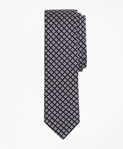 Floral Pattern Silk Tie