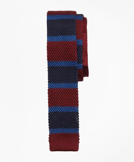 Multi-Stripe Silk Knit Tie