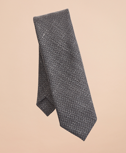 Wool-Blend Patterned Textured Tie