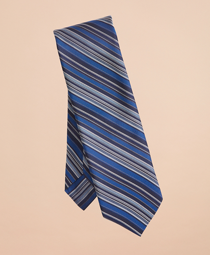Multi-Color Stripe Silk Tie