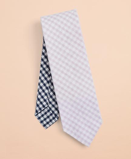 Seersucker Gingham Tie