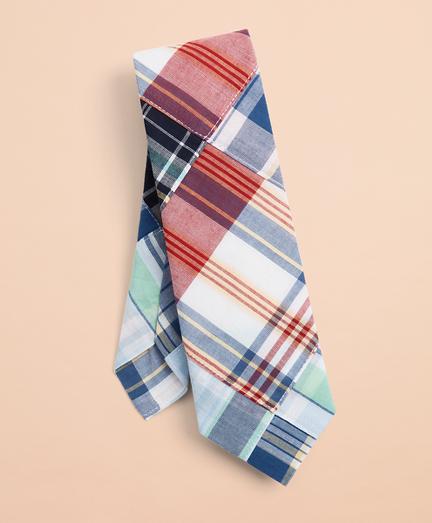 Patchwork Madras Tie