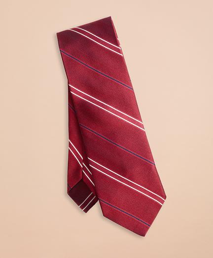 Twill Stripe Silk Tie