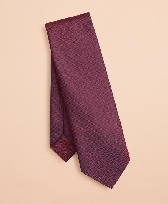Herringbone Silk Tie Wine