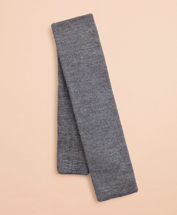 Fair Isle Wool Knit Tie Grey