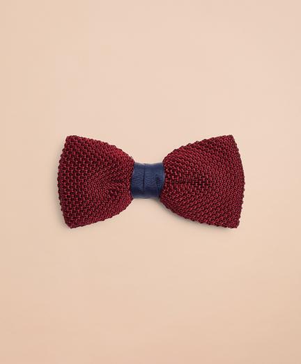 Knit Jacquard Silk Bow Tie