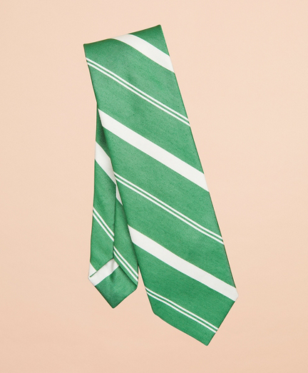 Awning Stripe Cotton-Silk Tie