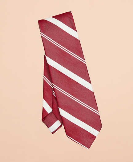 Awning Stripe Cotton-Silk Tie