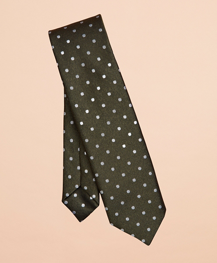 End-on-End Dotted Silk Tie