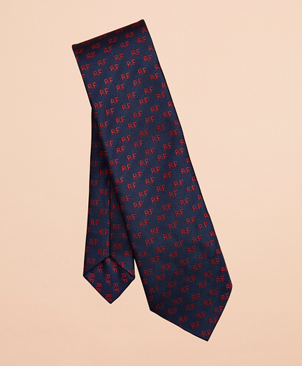 Red Fleece Patterned Silk Tie