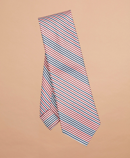 Alternating Stripe Silk-Blend Tie