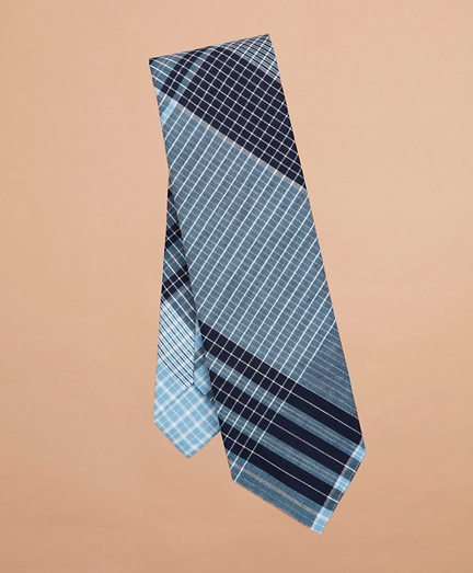 Checked Madras Tie
