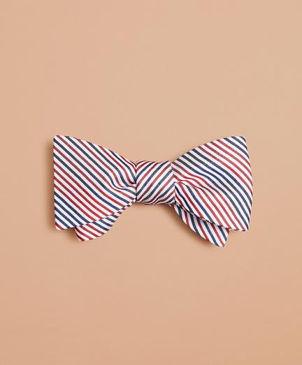 Alternating Stripe Bow Tie