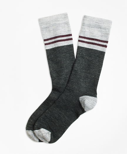 Varsity Stripe Wool Crew Socks