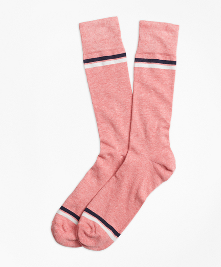 Stripe-Tip Crew Socks