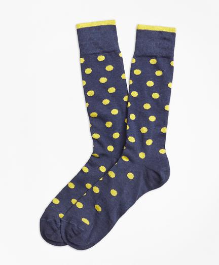 Polka-Dot Crew Socks