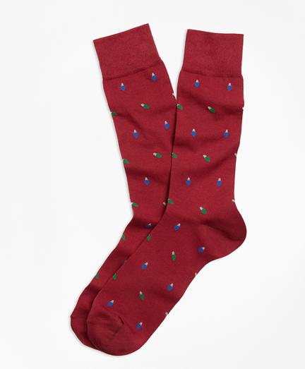 Holiday Light-Patterned Socks