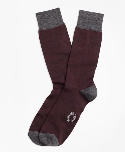 Marled Color-Block Wool-Blend Socks