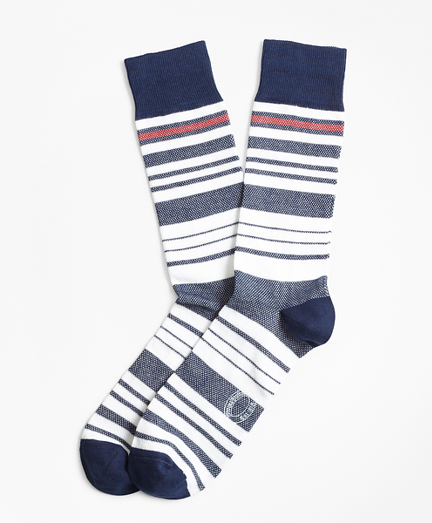 Variegated Stripe Crew Socks