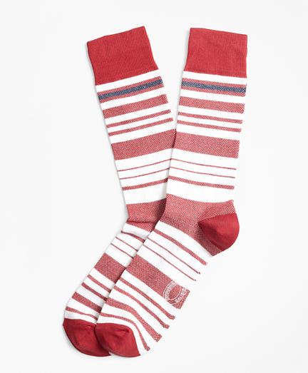 Variegated Stripe Crew Socks