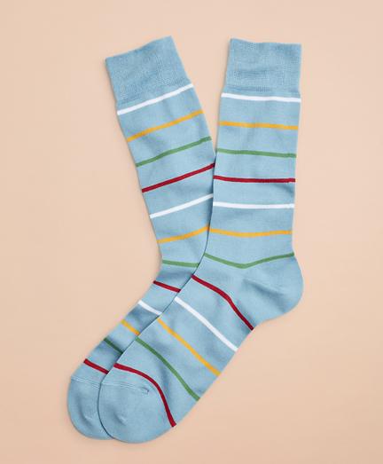 Colorful Stripe Crew Socks