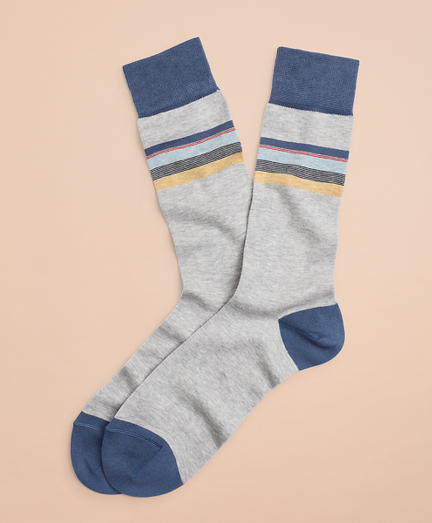 Color-Block Stripe Crew Socks