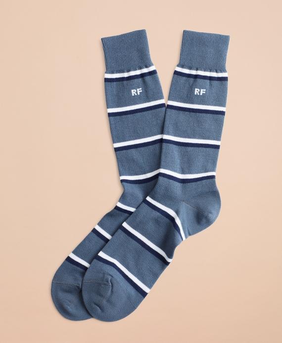 Double Stripe Crew Socks Teal