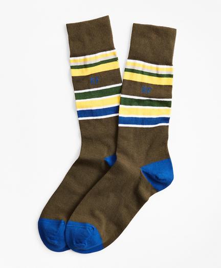 Multi-Stripe Crew Socks