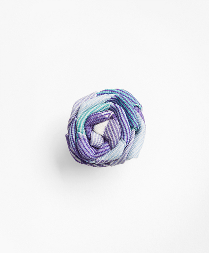 Stripe Lapel Flower