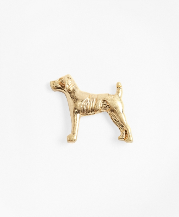 Dog Lapel Pin Gold