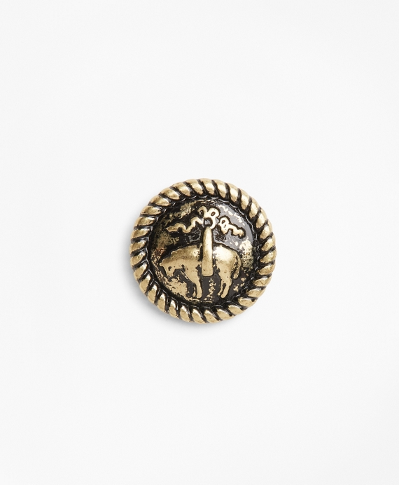 Distressed Gold-Toned Lapel Pin Gold