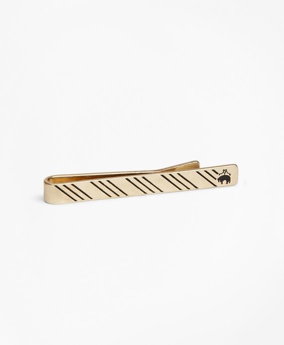 Striped Tie Bar Gold