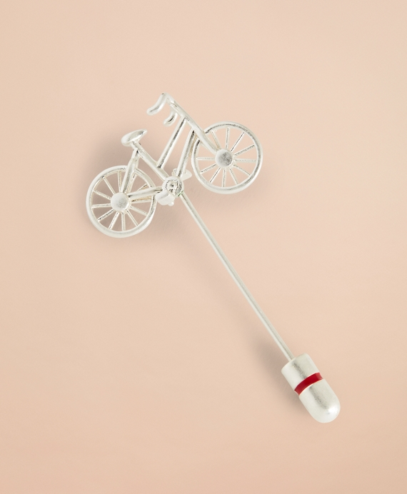 Bicycle Lapel Pin Silver