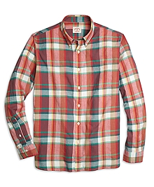 Red Madras Sport Shirt