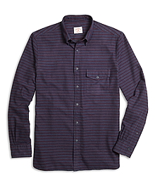 Stripe Flannel Sport Shirt