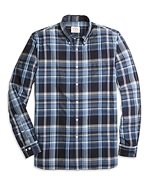 Blue Plaid Sport Shirt