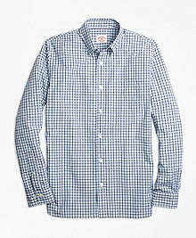 Dual-Tone Gingham Sport Shirt