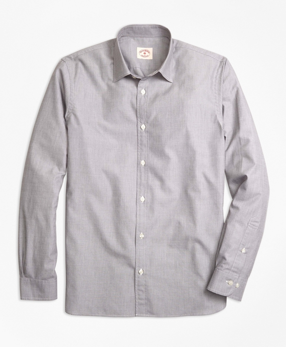Nine-to-Nine Spread Collar Shirt Dark Grey