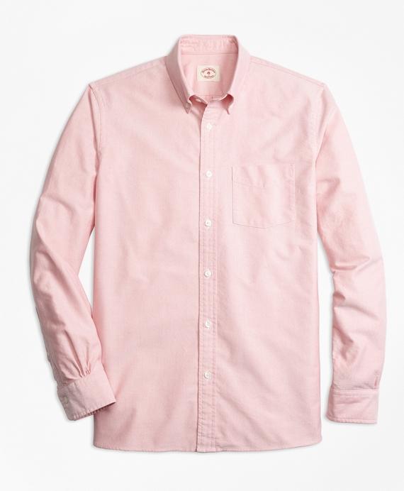 Supima® Cotton Oxford Sport Shirt Red