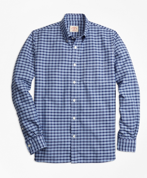 Checkered Oxford Sport Shirt Blue