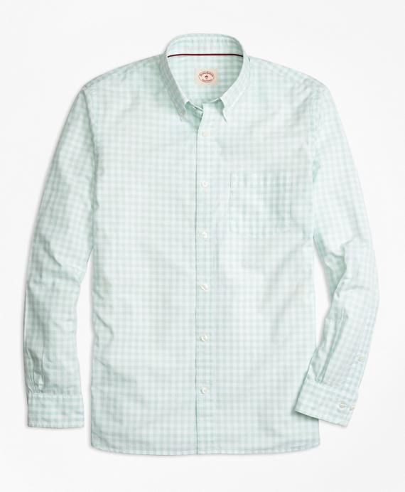 Gingham Broadcloth Sport Shirt Mint