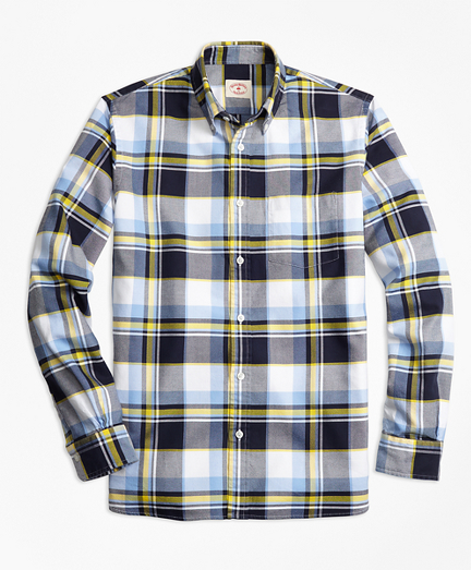 Plaid Basketweave Sport Shirt