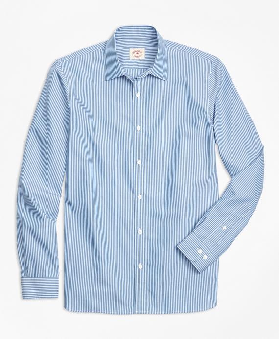Nine-to-Nine Framed Stripe Shirt Blue