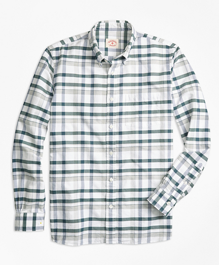 Plaid Oxford Cotton Sport Shirt