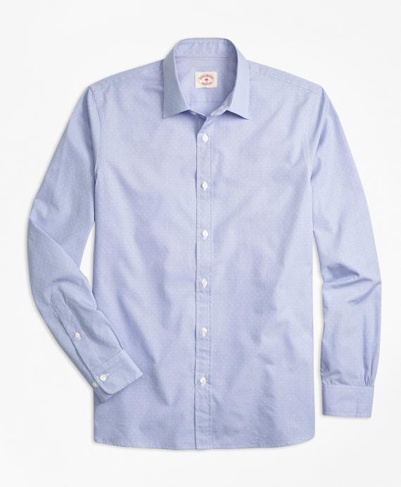 Nine-to-Nine Dobby-Stripe Shirt Navy