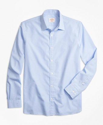 Nine-to-Nine Micro-Gingham Shirt